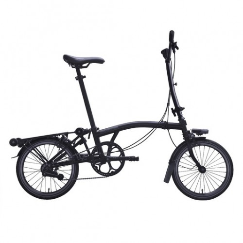 Brompton Black Edition Steel M6L Folding Bike With Mudguards