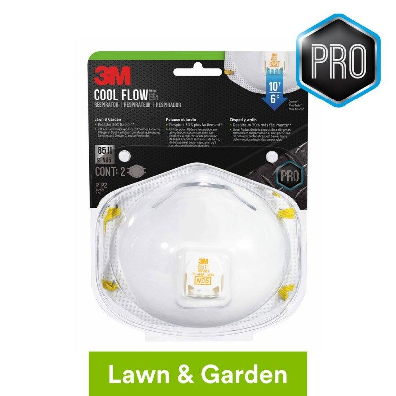 3M N95 Lawn and Garden Valved Respirator Dust Mask (1-Pcs)